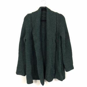 Hunter Green Chunk Knit Oversized Cardigan